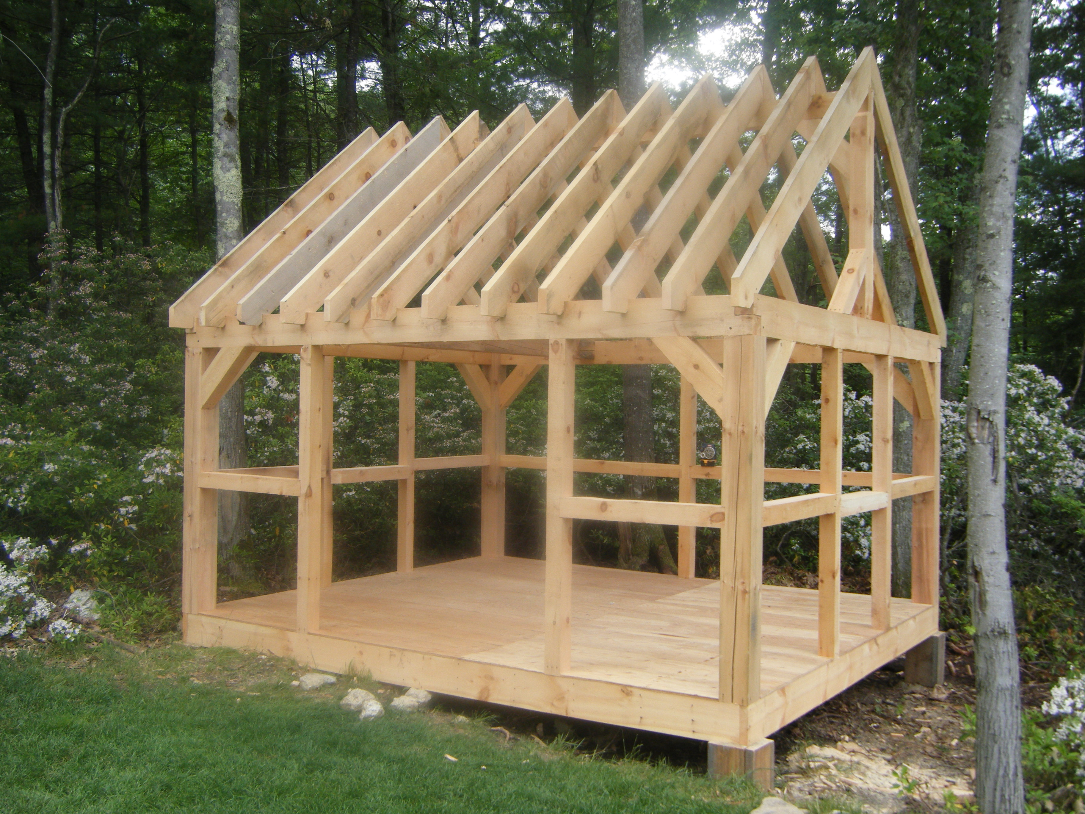 How to build a pole shed free plans quick woodworking A frame barn plans