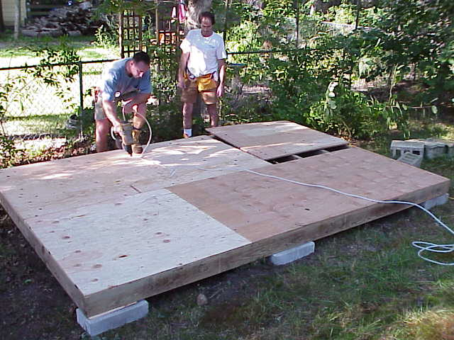 how to build a big storage shed