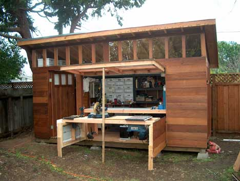 Integrating your garden shed design into your garden shed for Garden shed designs