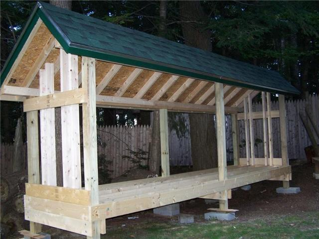 Shed Design Plan: Building a Firewood Shed | Shed Blueprints