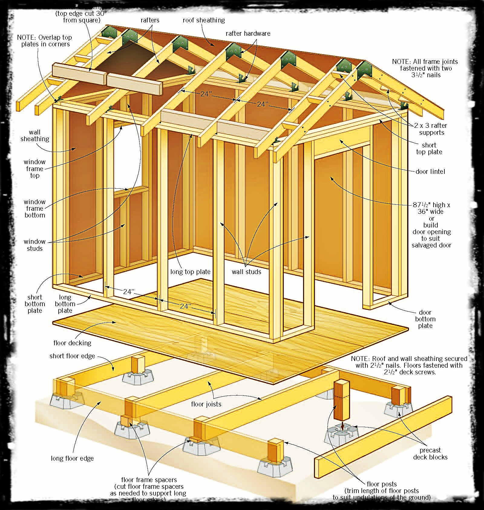 Free storage shed building plans shed blueprints for Simple garden design plans