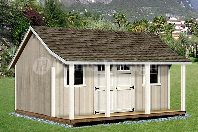 Free shed plans learn how to build a shed easily shed for Shed roof porch designs
