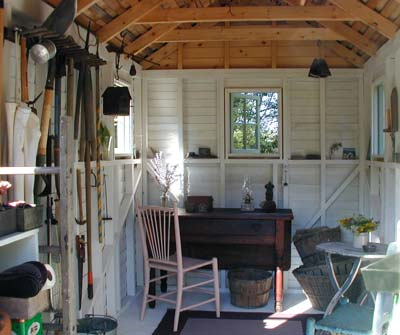Garden storage sheds design the perfect storage shed for for Shed office interior