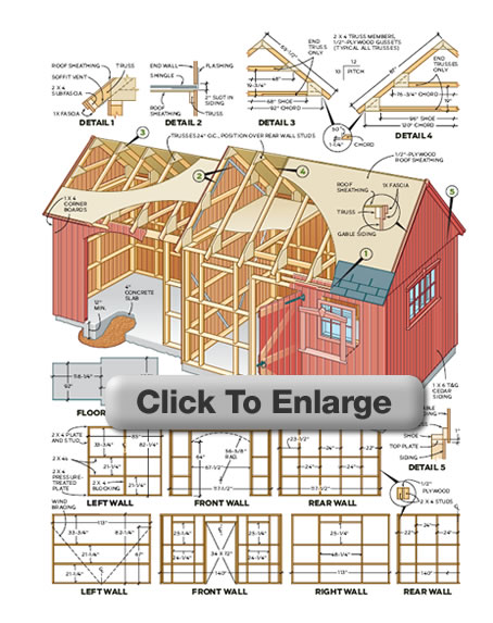 Large shed plans picking the best shed for your yard for Garden shed plans
