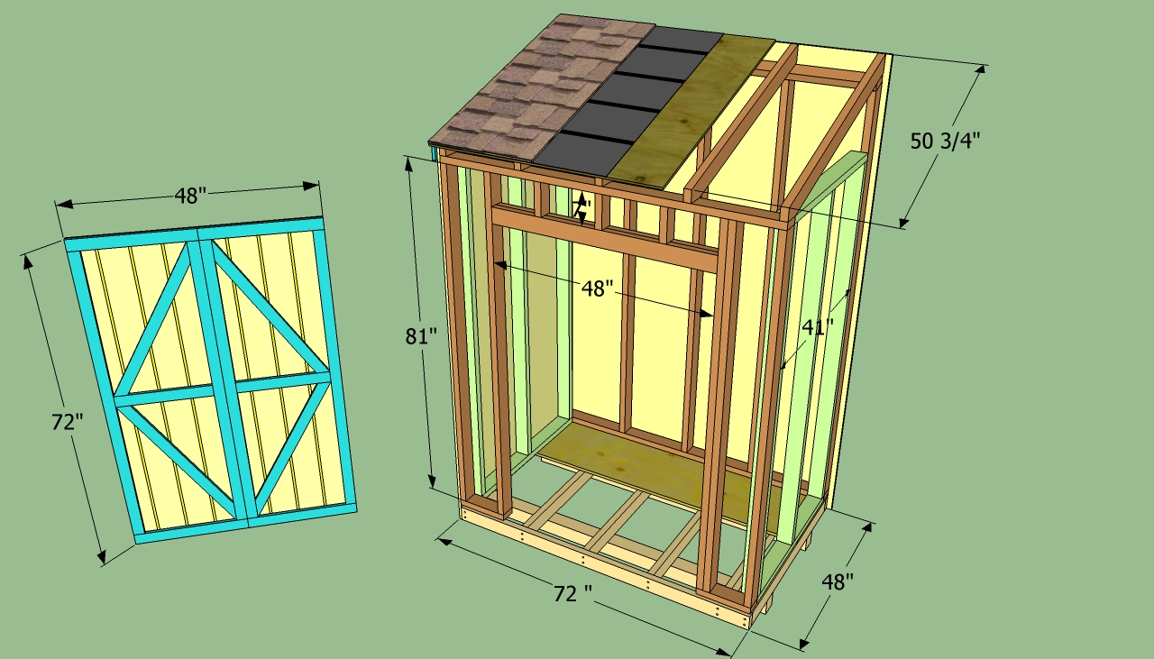 Shed blueprints lean to shed plan for Two storage house designs