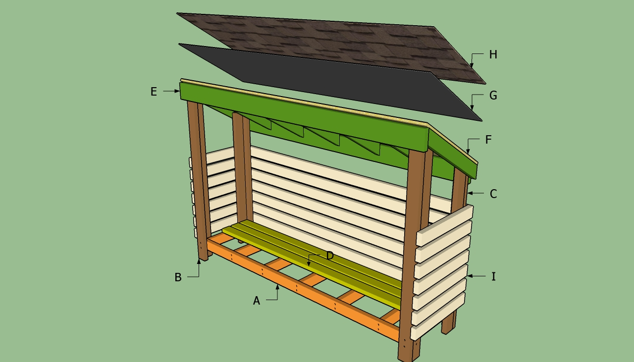 Firewood Shed Plans Build
