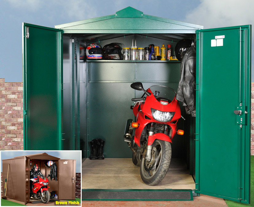 All you need to know about motorcycle storage shed for Motorcycle garage plans