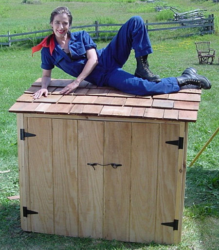 Garbage Can Shed Design