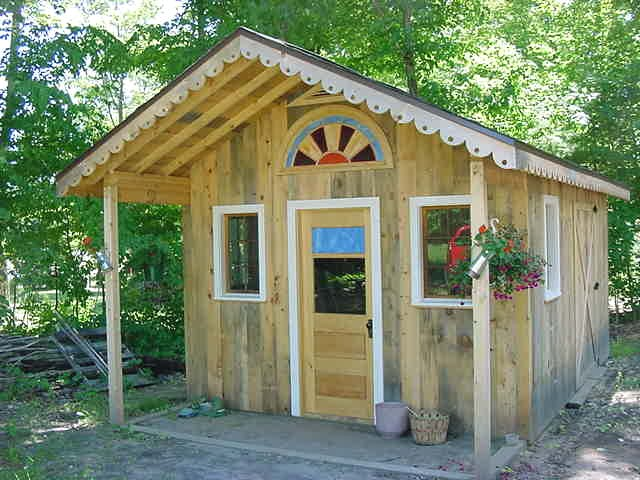 wood working designs potting shed plans for more storage space
