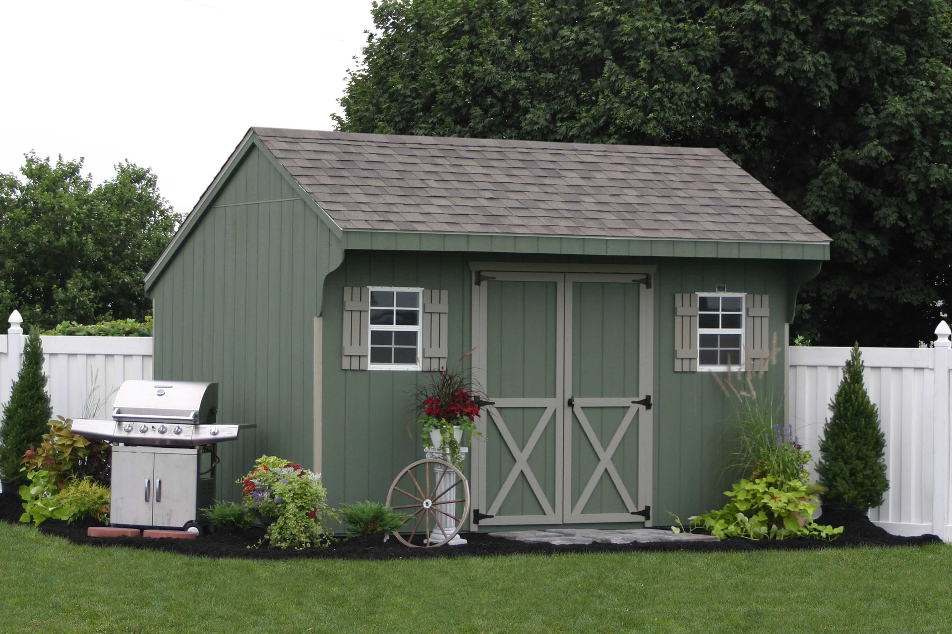 The easy way to construct your own shed using prefab sheds for Barn storage shed