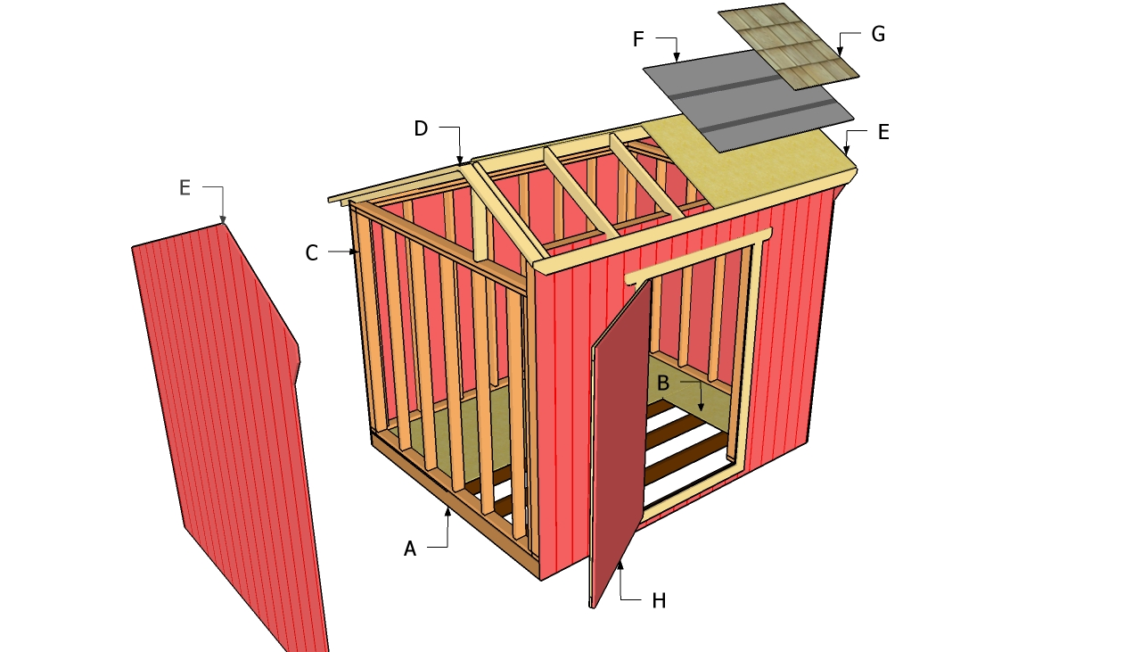 Backyard Shed Plans Saltbox Roof Style Shed Shed