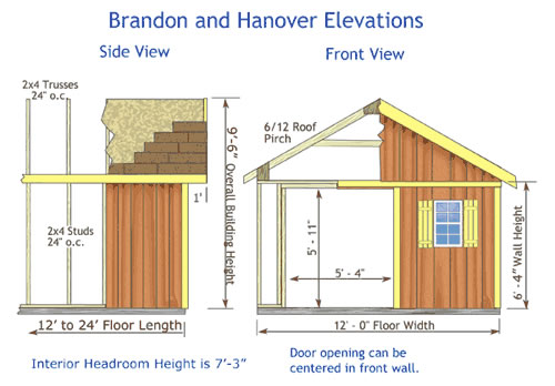 Shed Blueprints: Shed Plans - 12x16 and Other Dimensions ...