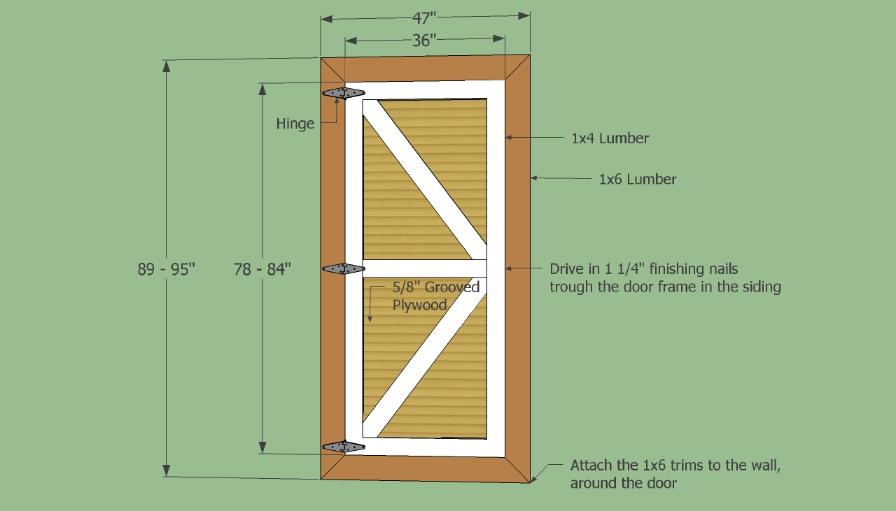 Replacement wooden shed doors using shed door plans shed blueprints