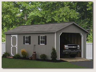 How to change large shed plans to include a shed garage for Garden shed workshop designs