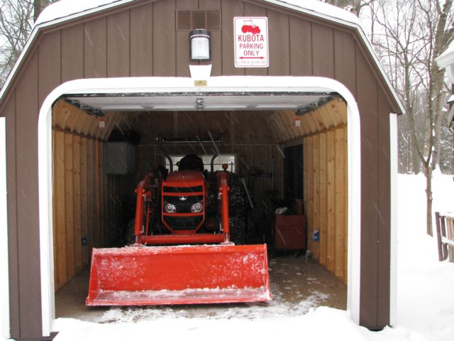 How to change large shed plans to include a shed garage for Tractor garage plans