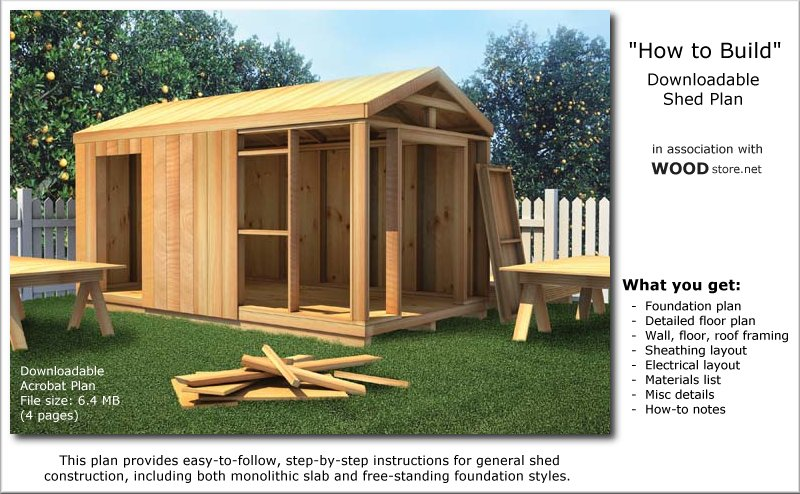 Storage Shed Building Plans & March 2015 | LA Sheds Build