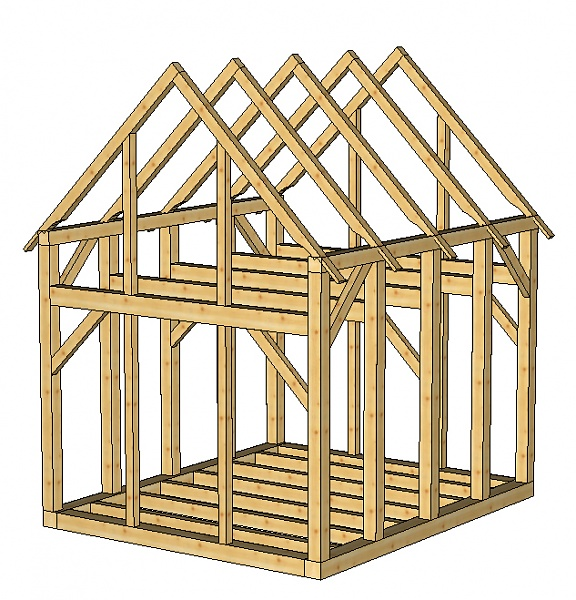 Small storage sheds plans small shed plans a diy kit for Small timber frame home plans