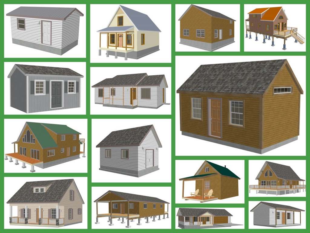 Small shed plans a diy kit is all you need to build your for Free house blueprints and plans