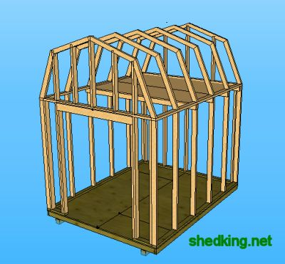 Small shed plans so simple you can do it yourself for Mini barn plans
