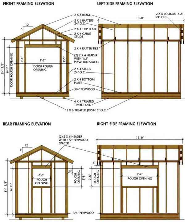 Storage Shed Drawings