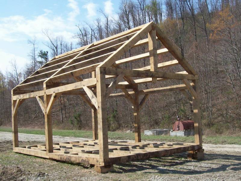 Acquire do it yourself storage shed construction plans for Timber frame home plans designs