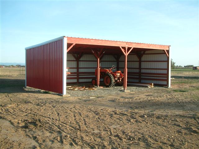 sheds tractor storage the single automobile tractor storage shed ...