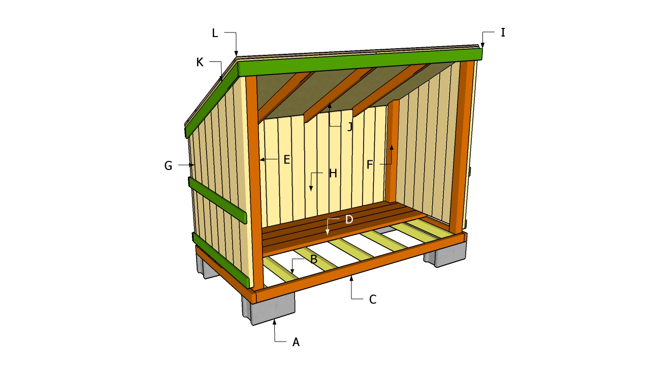 Wood shed plan a review of my shed plans shed blueprints for Lean to house designs