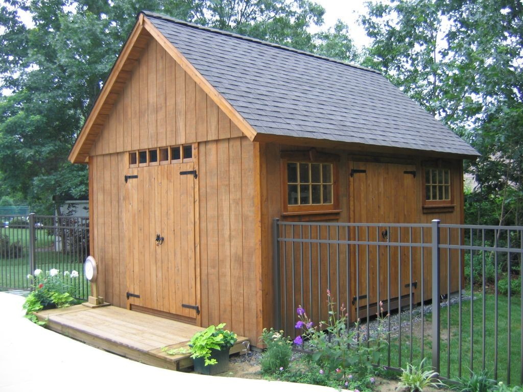 Wood storage sheds plans required for great results for Outdoor tool shed