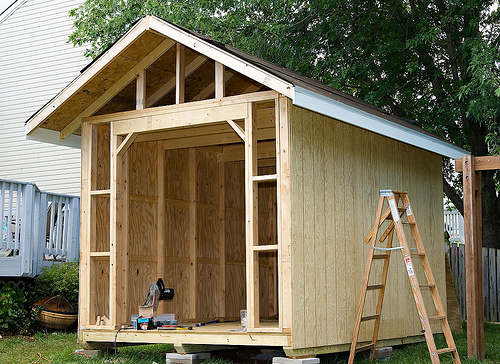 Wood storage shed plans for diy specialists shed blueprints for Outdoor storage shed plans