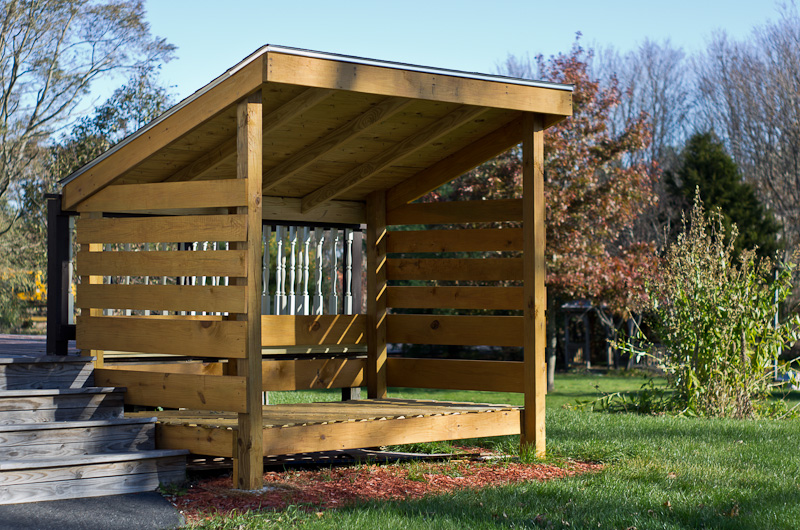 how to build a shed to store firewood