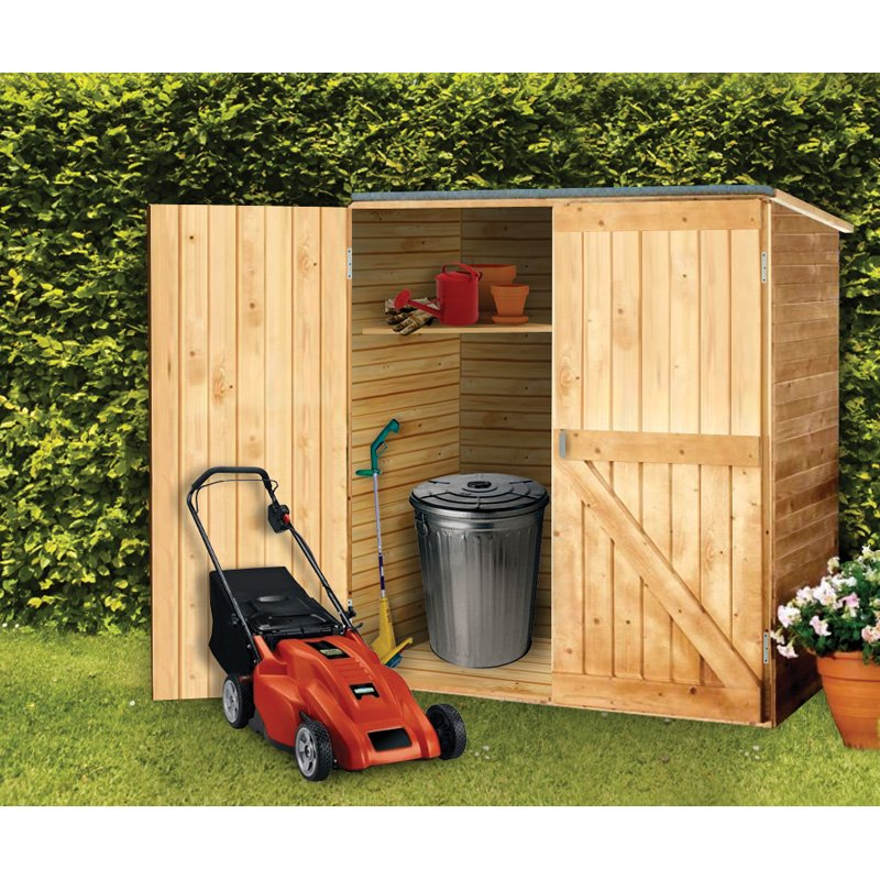 How to build a small wooden storage shed quick for Diy garden shed