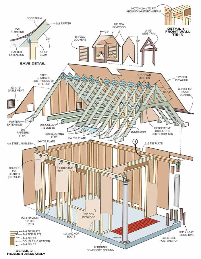 Yard shed plans explored shed blueprints for Shed design plans