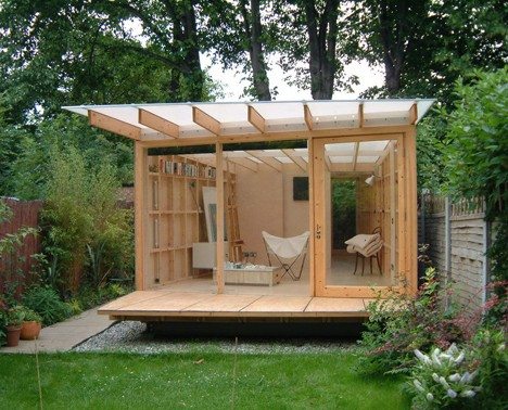 Garden shed designs shed blueprints for Shed roof house designs modern