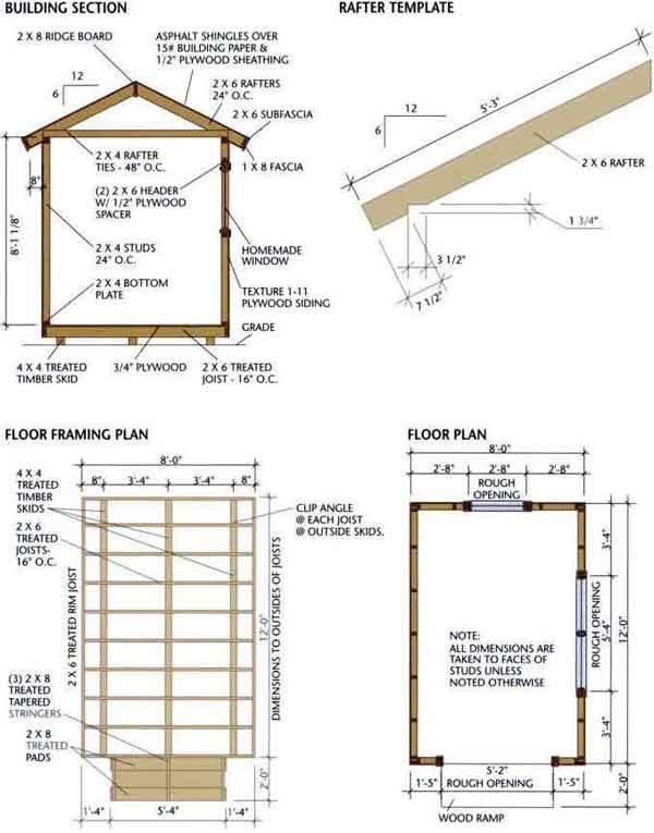 Finding the right storage building plans shed blueprints for Two storage house designs