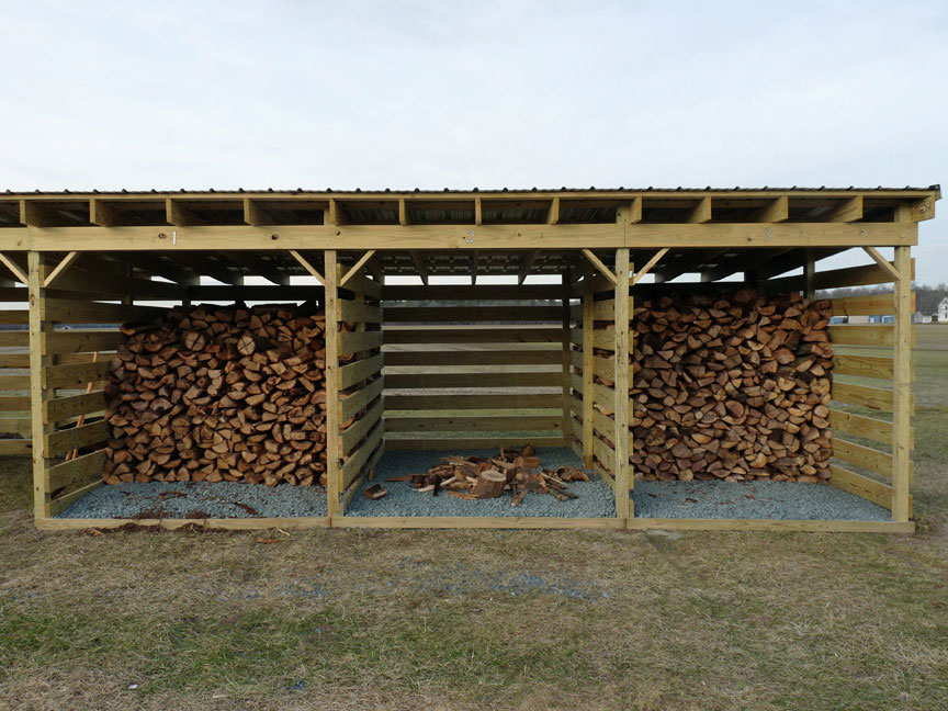 Woodshed slat spacing | Arboristsite.com