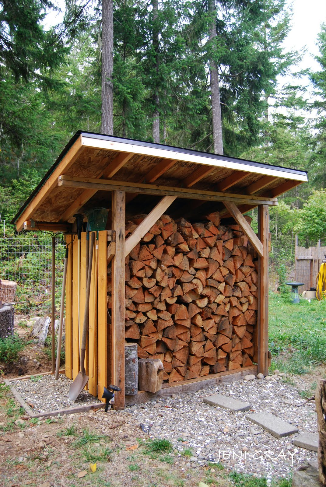 Image gallery woodshed for Wood shed plans